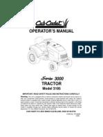 Cub Cadet 3185 Operators Manual 163730