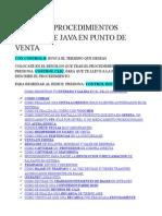 Procedimientos Basicos de Java
