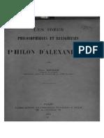 Brehier - Idées de Philon d'Alexandrie