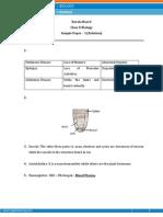 Kerala - Biology Sample Paper-1-SOLUTION-Class 10 Question Paper
