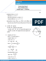 Kerala-Math Sample Paper-1-SOLUTION-Class 10 Question Paper