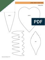 como hacer un flor de papel