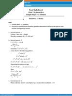 TAMILNADU-Mathematics Sample Paper-1-SOLUTION-Class-10 Question Paper