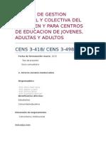 Sistema de Seguridad Colectiva Para Censtros de Educacion de Jovenes