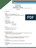 TAMILNADU-Science Sample Paper-1-SOLUTION-Class-10 Question Paper