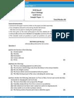 ICSE-Biology Sample Paper-1-Class 10 Question Paper