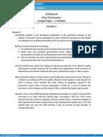 ICSE- Economics Sample Paper-1- SOLUTION-Class 10 Question Paper