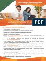 Checklist pour votre déménagement