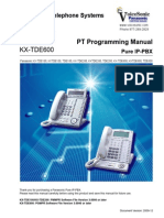 Panasonic KX TDE100 200 600 PT Programming Manual