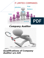 Audit of Limited Companies