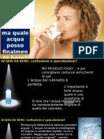 Il trattamento dell'acqua