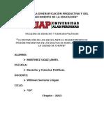 La Motivación de Los Jueces Penales Ante El Requerimiento de Prisión Preventiva en Los Delitos de Robo Agravado