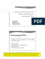 Overview of Government Of india's Initiative to promote Public Private Partnership