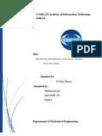 Fea Report Struss Analysis)