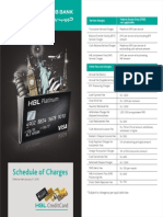 Schedule of Charges 2016(Platinum )