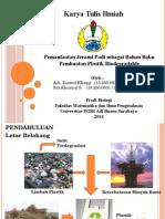 Pemanfaatan Jerami Padi sebagai Bahan Baku Pembuatan Plastik Biodegradable
