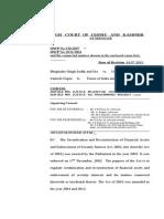 Bhupinder Singh Sodhi v UOI (J & K HC) (16-Jul-2015)
