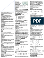 MATH2101 Cheat Sheet