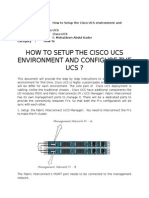 How to Setup the Cisco UCS Environment and Configure the UCS