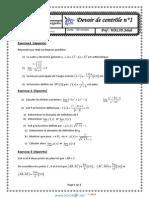 Dee Contrôle N°1 - Math - 3ème Technique (2013-2014) Mr Walid Jebali