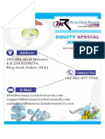 Equity Special Report by money classic research