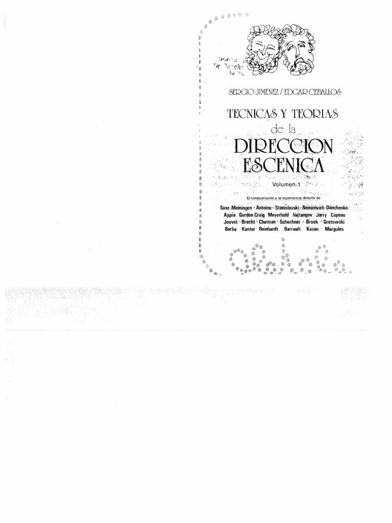 Varios (Históricos) - Técnicas y Teorías de La Dir. Escénica