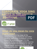 Corporate Yoga Singapore is the Unique Boutique