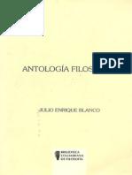 Antologia Filosofica. Julio Enrique Blanco.