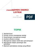 Manajemen Energi Listrik