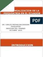 Manicomializacion de La Psiquiatria en El Ecuador