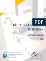 Máster Project Manager Ergonomía 2016