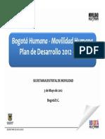 Presentacin Plan de Desarrollo Sector de Movilidad 4193