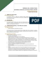 Materias Grasas Lácteas Para Untar_codex 253_2006