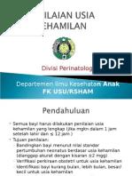 K - 7 Penilaian Usia Gestasi (Ilmu Kesehatan Anak)