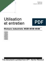Utilisation Et Entretien Serie 400