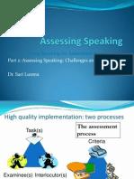 Assessing Speaking Part 2 17.01.14