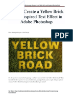 How to Create a Yellow Brick Road Inspired Text Effect in Adobe Photoshop Tutorial