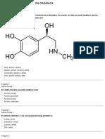 Evaluación sobre función química orgánica