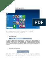 Entorno gráfico de  Windows 7