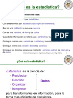 Introduccion a La Estadistica Descriptiva - Primera Parte