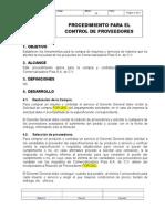 PPR Control de Proveedores