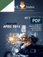 IASbaba UPSC Current Affairs Analysis Magazine April 20151