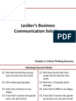 Lesiker's Business Communication Solution 6