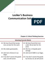 Lesiker's Business Communication Solution 6