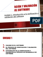 Validacion y Verificacion de Software