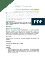 Guía de Discusión Para El Focus Group de marca