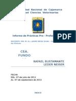Practicas Pre Profesionales Cea Fundo La Victoria Unc