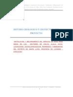 Informe Geologico y Geotecnico Del Canal de Uchuytambo
