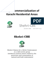 Illegal Commercialization of Residential Karachi