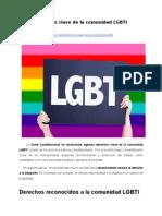 Derechos clave de la comunidad LGBTI